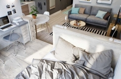 Jednostavan, a interesantan stan za mladi bračni par