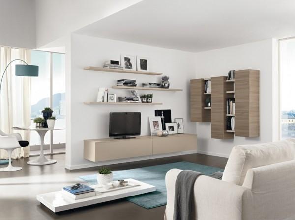 Dnevne sobe sa interesantnim policama - 3a dizajn